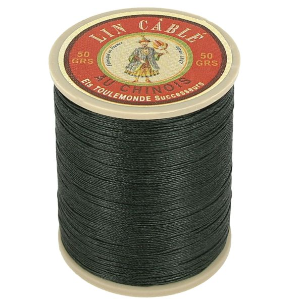 Fil au chinois fil de lin c bl glac vert sapin 494 for Fil de couture